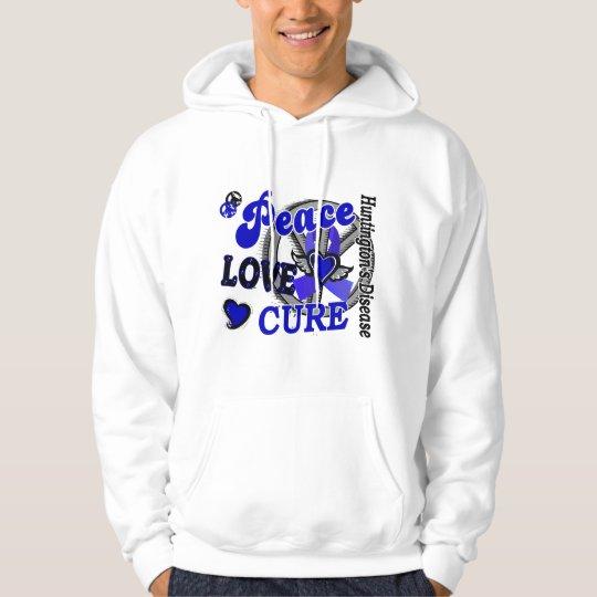 Peace Love Cure 2 Huntington's Disease Hoodie
