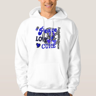 Peace Love Cure 2 Huntington's Disease Hoody