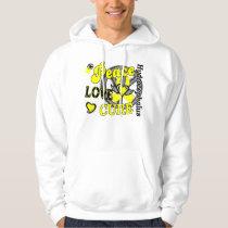 Peace Love Cure 2 Hydrocephalus Hoodie