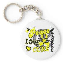 Peace Love Cure 2 Hydrocephalus Keychain