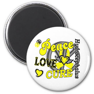 Peace Love Cure 2 Hydrocephalus 2 Inch Round Magnet