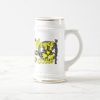 Peace Love Cure 2 Hydrocephalus 18 Oz Beer Stein