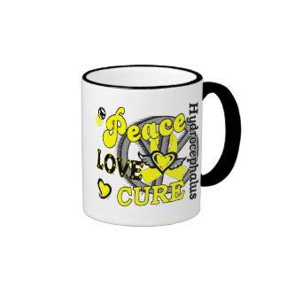 Peace Love Cure 2 Hydrocephalus Ringer Coffee Mug