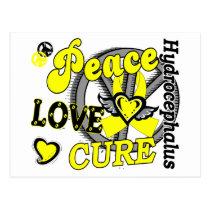 Peace Love Cure 2 Hydrocephalus Postcard