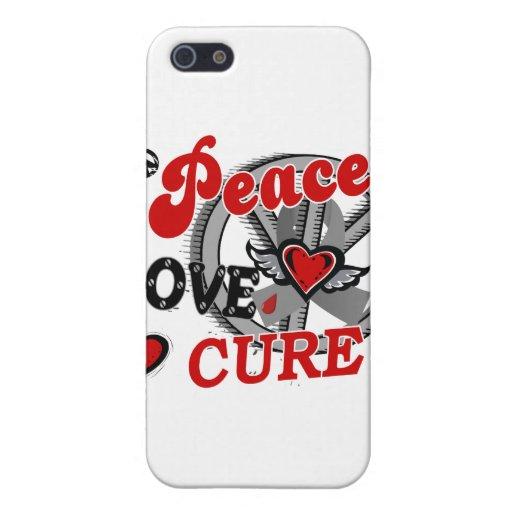 Peace Love Cure 2 Juvenile Diabetes Cover For iPhone 5