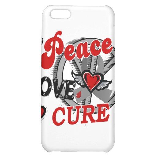 Peace Love Cure 2 Juvenile Diabetes Case For iPhone 5C