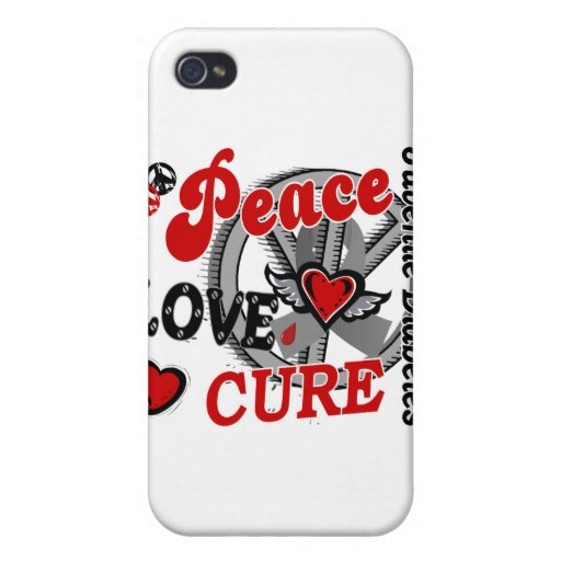 Peace Love Cure 2 Juvenile Diabetes iPhone 4/4S Case