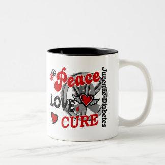 Peace Love Cure 2 Juvenile Diabetes Two-Tone Coffee Mug