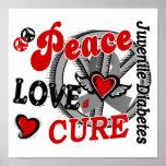 Peace Love Cure 2 Juvenile Diabetes Poster