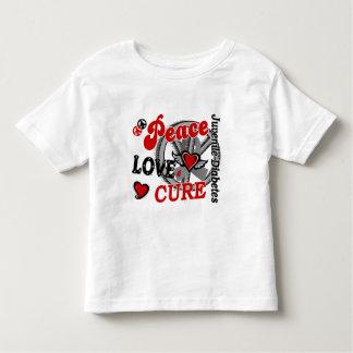 Peace Love Cure 2 Juvenile Diabetes Shirts