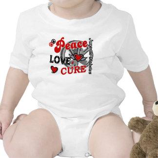 Peace Love Cure 2 Juvenile Diabetes T-shirt