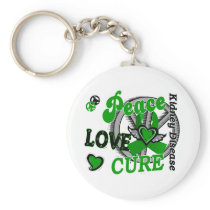 Peace Love Cure 2 Kidney Disease Keychain
