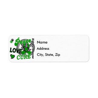 Peace Love Cure 2 Kidney Disease Label