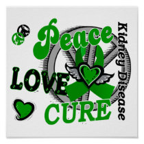 Peace Love Cure 2 Kidney Disease Poster