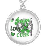 Peace Love Cure 2 Kidney Disease Round Pendant Necklace