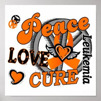 Peace Love Cure 2 Leukemia Poster
