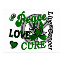 Peace Love Cure 2 Liver Cancer Postcard