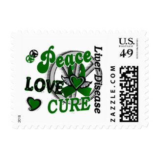 Peace Love Cure 2 Liver Disease Postage
