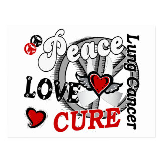 Peace Love Cure 2 Lung Cancer Postcard