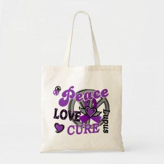 Peace Love Cure 2 Lupus Tote Bags