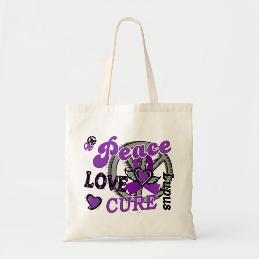 Peace Love Cure 2 Lupus Tote Bags