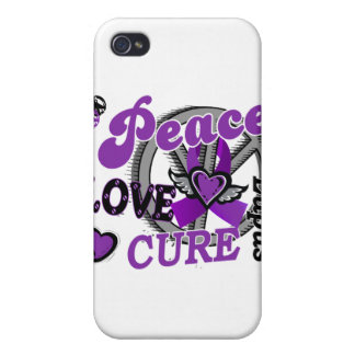 Peace Love Cure 2 Lupus Case For iPhone 4