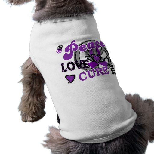 Peace Love Cure 2 Lupus Dog T Shirt