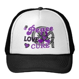 Peace Love Cure 2 Lupus Trucker Hat