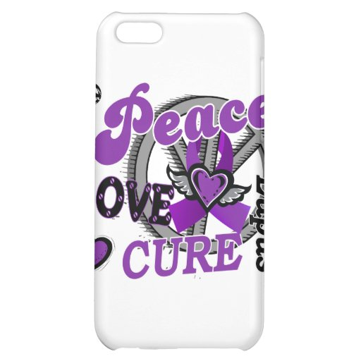 Peace Love Cure 2 Lupus iPhone 5C Cover
