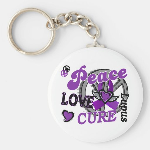 Peace Love Cure 2 Lupus Keychain