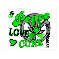 Peace Love Cure 2 Lyme Disease Postcard