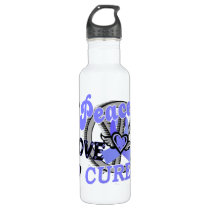 Peace Love Cure 2 Lymphedema Stainless Steel Water Bottle