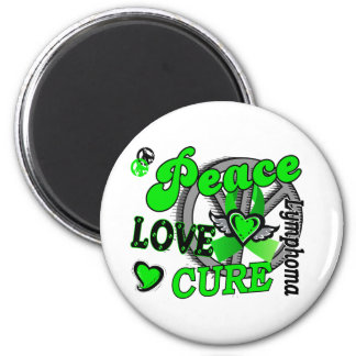 Peace Love Cure 2 Lymphoma 2 Inch Round Magnet
