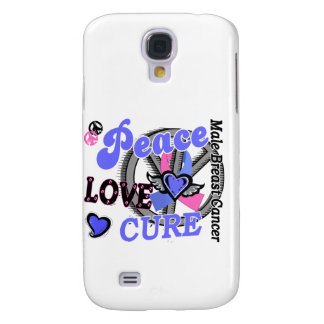Peace Love Cure 2 Male Breast Cancer Galaxy S4 Cover