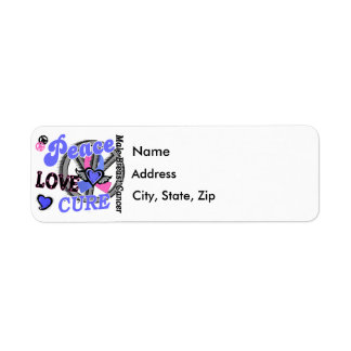 Peace Love Cure 2 Male Breast Cancer Return Address Label