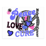 Peace Love Cure 2 Male Breast Cancer Postcard