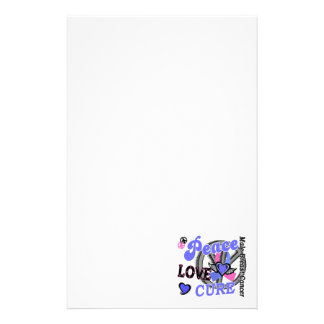 Peace Love Cure 2 Male Breast Cancer Stationery Paper
