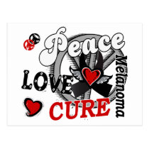 Peace Love Cure 2 Melanoma Postcard