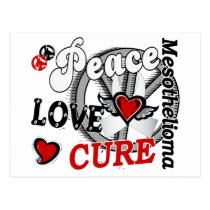 Peace Love Cure 2 Mesothelioma Postcard