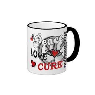 Peace Love Cure 2 Mesothelioma Ringer Coffee Mug