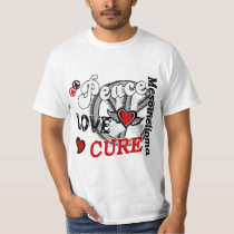 Peace Love Cure 2 Mesothelioma T-Shirt