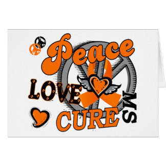 Peace Love Cure 2 MS Greeting Card