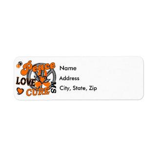 Peace Love Cure 2 MS Custom Return Address Label