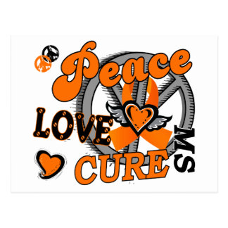 Peace Love Cure 2 MS Post Cards
