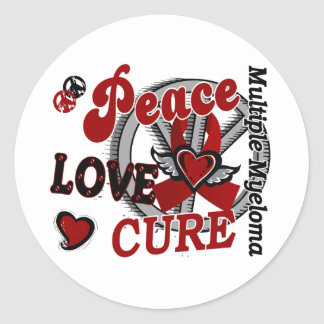 Peace Love Cure 2 Multiple Myeloma Classic Round Sticker