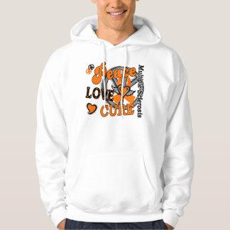 Peace Love Cure 2 Multiple Sclerosis Hoodie
