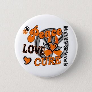 Peace Love Cure 2 Multiple Sclerosis Pinback Button