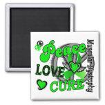 Peace Love Cure 2 Muscular Dystrophy Fridge Magnets
