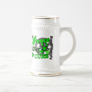 Peace Love Cure 2 Muscular Dystrophy 18 Oz Beer Stein