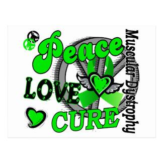 Peace Love Cure 2 Muscular Dystrophy Postcard